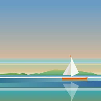 barchetta navigare oceano hosting