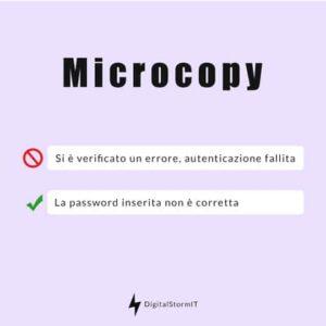 esempio di microcopy