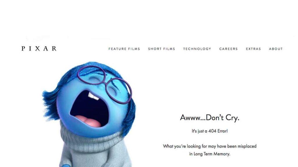pixar un 404 creativo