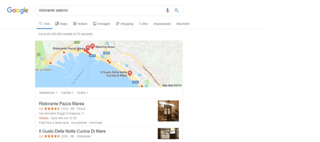 screen di una scheda di google maps